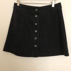 Black denim skirt size 8